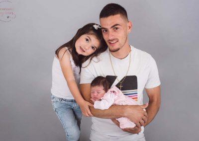 Photos nouveau né et frère et sœur