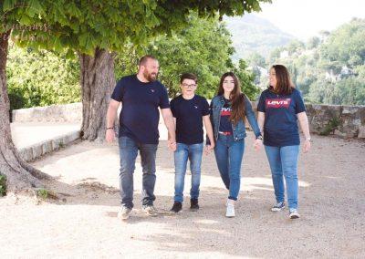Photo de famille ado Alpes Maritimes